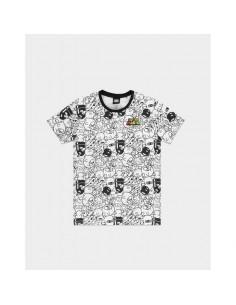 Camiseta Super Mario Villains AOP Nintendo TALLA CAMISETA L