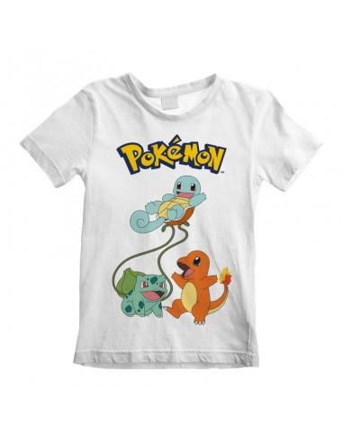 Camiseta Pokemon - Original Trio  - Niño TALLA CAMISETA NIÑO TALLA 122 - 7 AÑOS