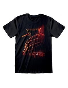 Camiseta Nightmare On Elm St, A - Poster - Talla Adulto TALLA CAMISETA L
