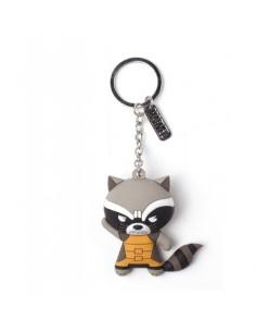 Llavero de Goma 3D Raccoon Marvel