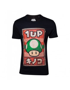 Camiseta Poster Inspired 1-Up Mushroom Super Mario TALLA CAMISETA L