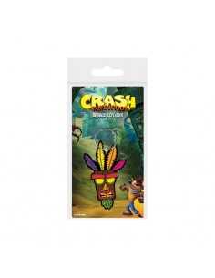 Crash Bandicoot Llavero caucho - Aku Aku