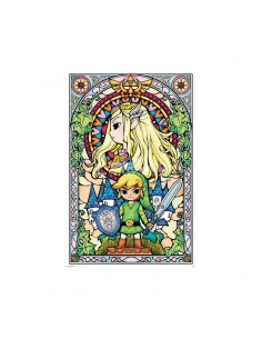 Legend of Zelda Set de 5 Pósteres Stained Glass