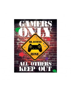 Gaming Set de 5 Pósteres GAMERS ONLY CONTROLLER KEEP OUT