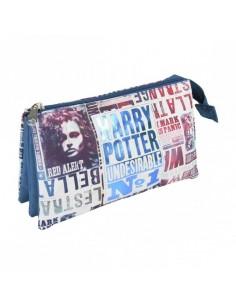 Harry Potter Estuche / Portatodo 3 Compatimentos