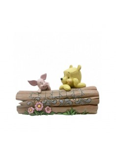 Disney Traditions : Truncated Conversation (Pooh and Piglet on a Log Figurine)