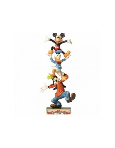 Disney Traditions : Teetering Tower (Goofy, Donald Duck and Mickey Mouse Figurin