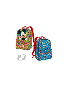 MICKEY INFANTIL Mochila Reversible Pequeña Disney