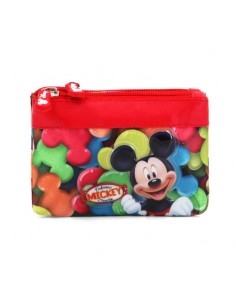 MICKEY INFANTIL Monedero Cuadrado Doble Disney