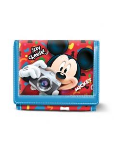 MICKEY INFANTIL Billetero Velcro Say Cheese Disney