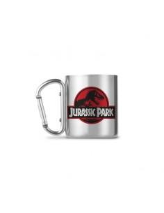 Taza acero inoxidable Jurassic Park Logo