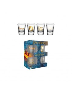 Pack 4 vasos de chupito Lord of The Rings