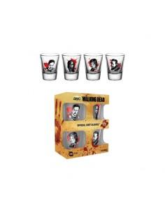 Pack de 4 Vasos de Chupito Walking Dead Characters - Personajes