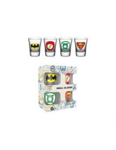 Pack 4 vasos de chupito DC Comics - Logo