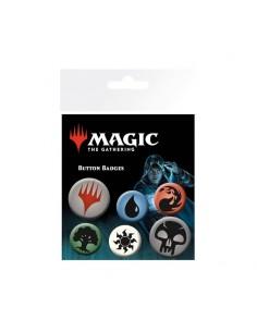 Set de 6 chapas Magic the Gathering - Mana Symbols