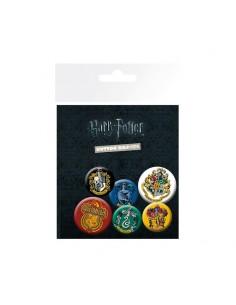 Set de 6 chapas Harry Potter Crests