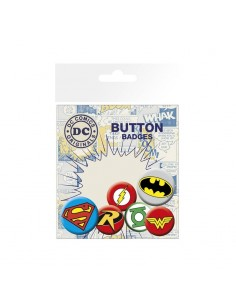 Set de 6 chapas DC Comics - Logos