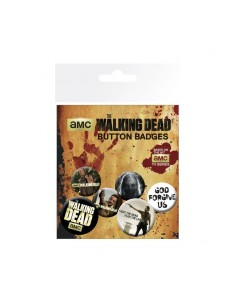 Set de 6 chapas The Walking Dead Mix