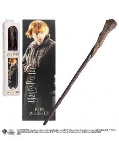 Harry Potter - Varita Mágica de Ron Weasley con marcapáginas 3D