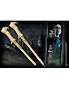 Harry Potter Set Punto de libro ( marcapáginas) y Boligrafo Lord Voldemort