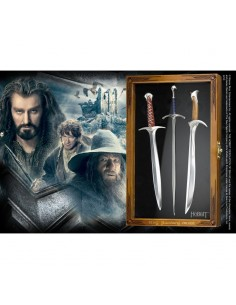 El Hobbit - Set de 3 Abrecartas Espadas Glamdring, Sting y Orcrist