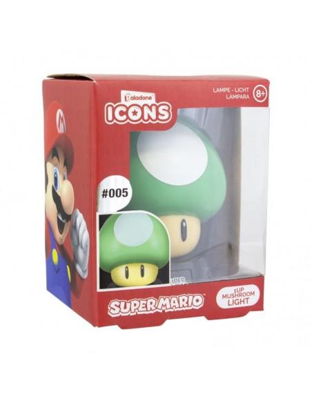 Super Mario Bros - lámpara 3D Icon 1Up Mushroom