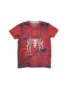 Camiseta Spiderman Acid Wash - Hombre TALLA CAMISETA M