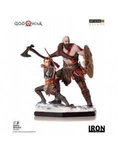 Kratos & Atreus God of War Estatua 1/10 Deluxe Art Scale
