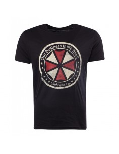 Camiseta Resident Evil Logo - Hombre TALLA CAMISETA M