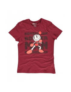 Camiseta Bomberman Tonal Bomb Konami - Hombre TALLA CAMISETA M