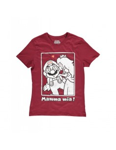 Camiseta Super Mario Princesa Peach Kiss - Hombre TALLA CAMISETA S