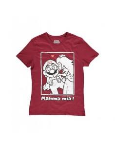 Camiseta Super Mario Princesa Peach Kiss - Hombre TALLA CAMISETA M