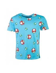 Nintendo - Super Mario Happy Toad AOP Men's T-shirt TALLA CAMISETA M