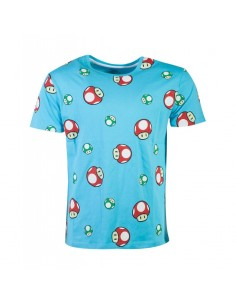 Nintendo - Super Mario Happy Toad AOP Men's T-shirt TALLA CAMISETA L