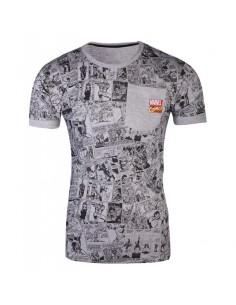Marvel Comics - Comic AOP Pocket Men's T-shirt TALLA CAMISETA XL