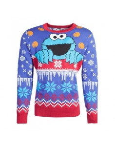 Sesame Street Suéter Christmas Cookie Monster TALLA CAMISETA S