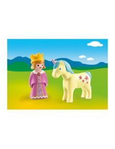 Playmobil - 1.2.3 Princesa con Unicornio