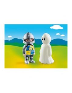 Playmobil - 1.2.3 Caballero con Fantasma