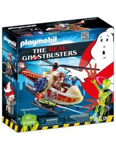 Ghostbusters Venkman con Helicóptero y Chorros de Agua Reales - Playmobil