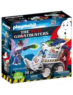 Ghostbusters Spengler con Coche Jaula y Lanzador de Discos - Playmobil