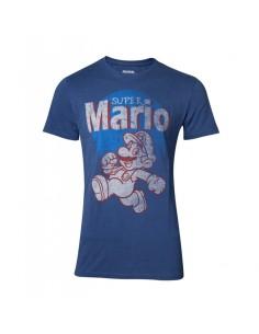 Camiseta Super Mario Running Vintage Nintendo - Hombre TALLA CAMISETA XL