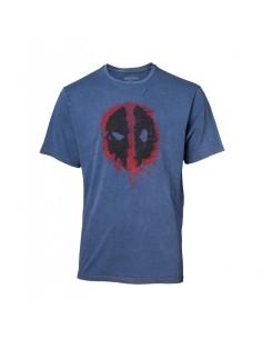 Camiseta Deadpool Faux Denim - Hombre TALLA CAMISETA L