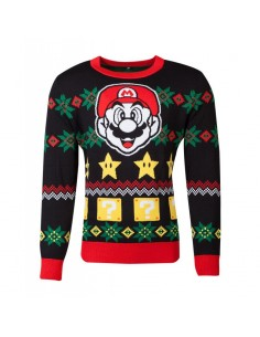 Nintendo - Super Mario Knitted Unisex Jumper TALLA CAMISETA L