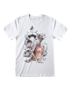 Camiseta ET - Vintage Characters - Unisex - Talla Adulto TALLA CAMISETA L