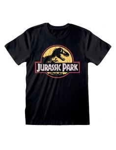 Camiseta Jurassic Park - Original Logo Distressed - Unisex - Talla Adulto TALLA CAMISETA L