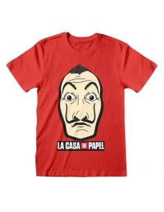 Camiseta La Casa De Papel - Mask And Logo  - Unisex - Talla Adulto TALLA CAMISETA M