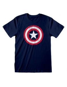 Camiseta Marvel Comics Captain America - Shield Distressed - Unisex - Talla Adulto TALLA CAMISETA S