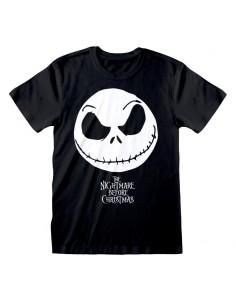 Camiseta Nightmare Before Christmas - Jack Face & Logo - Unisex - Talla Adulto TALLA CAMISETA S