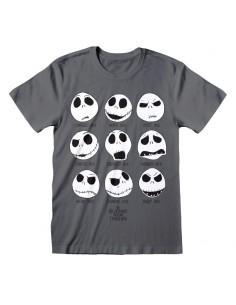 Camiseta Nightmare Before Christmas - Many Faces Of Jack - Unisex - Talla Adulto TALLA CAMISETA L