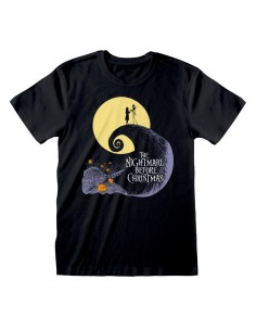 Camiseta Nightmare Before Christmas - Silhouette  - Unisex - Talla Adulto TALLA CAMISETA M